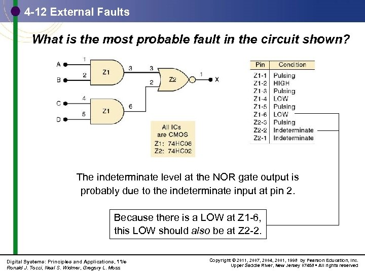 4 -12 External Faults What is the most probable fault in the circuit shown?