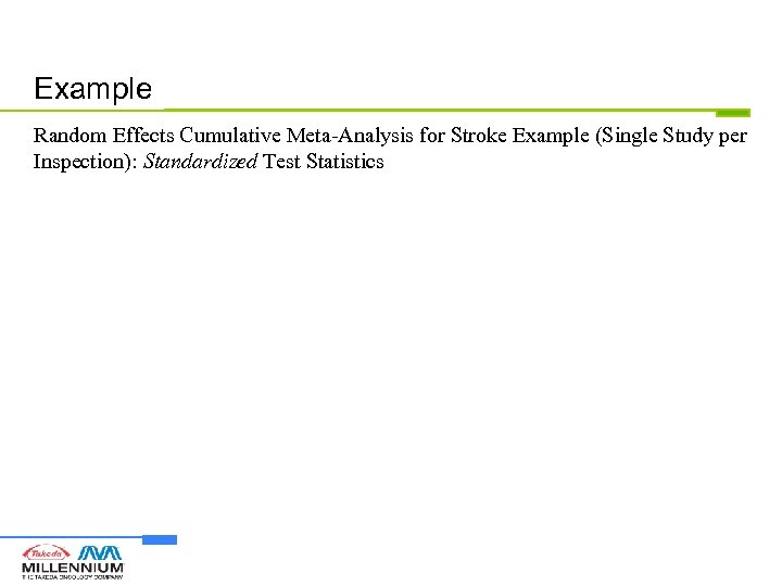 Example Random Effects Cumulative Meta-Analysis for Stroke Example (Single Study per Inspection): Standardized Test