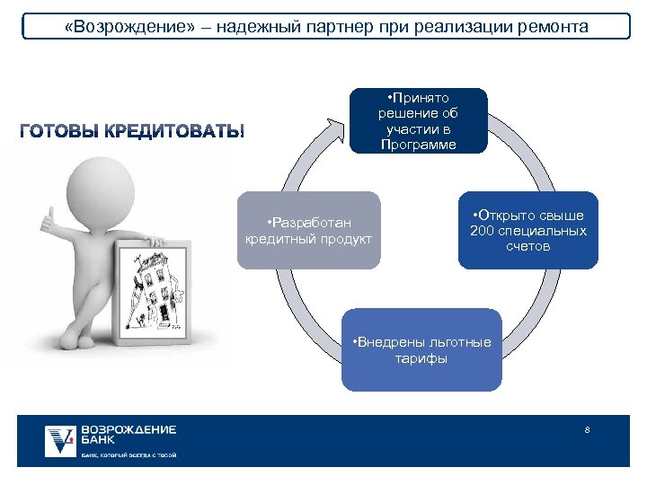 «Возрождение» – надежный партнер при реализации ремонта • Принято решение об участии в