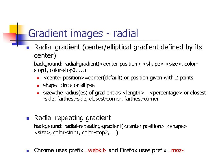 Gradient images - radial n Radial gradient (center/elliptical gradient defined by its center) background: