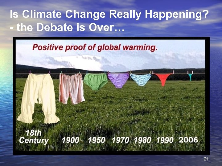 Is Climate Change Really Happening? - the Debate is Over… 21