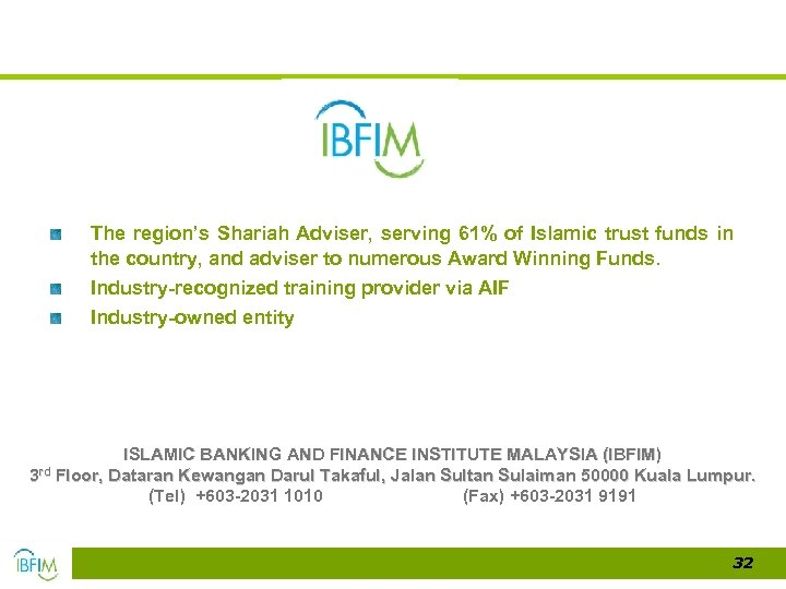 The region's Shariah Adviser, serving 61% of Islamic trust funds in the country, and