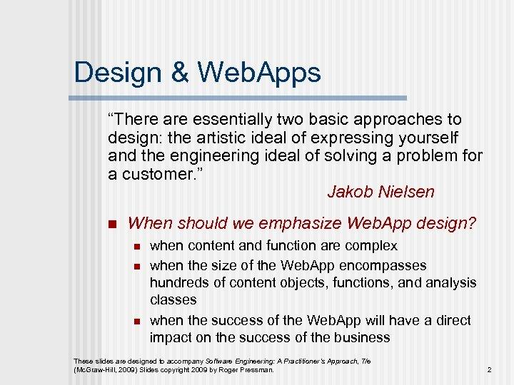 Chapter 13 N Web App Design Slide Set