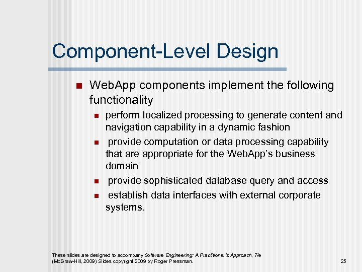 Chapter 13 N Web App Design Slide Set