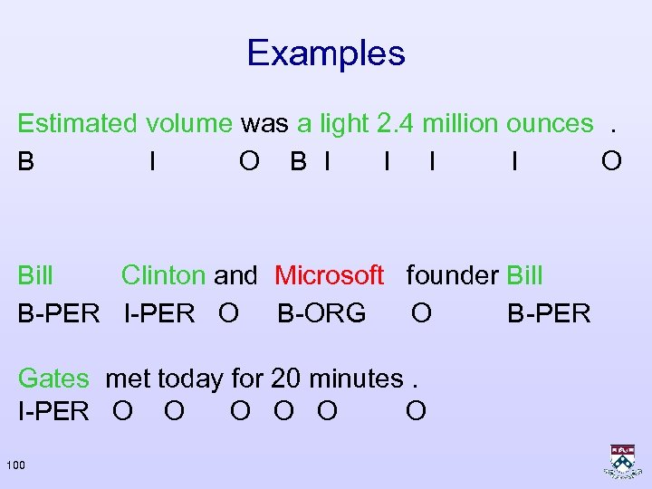 Examples Estimated volume was a light 2. 4 million ounces. B I O B