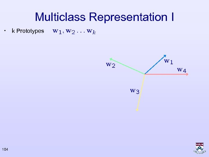 Multiclass Representation I • k Prototypes 104