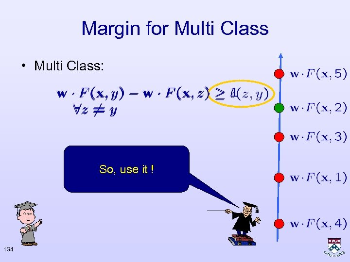 Margin for Multi Class • Multi Class: So, use it ! 134