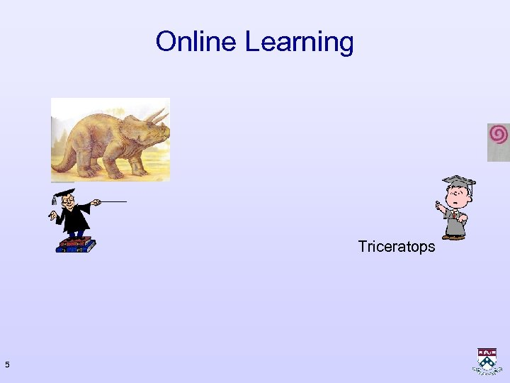Online Learning Triceratops 5