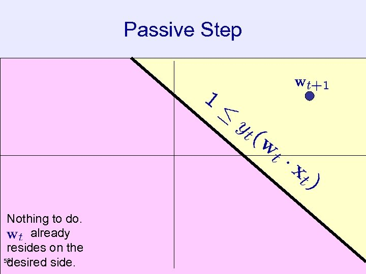 Passive Step Nothing to do. already resides on the 59 desired side.