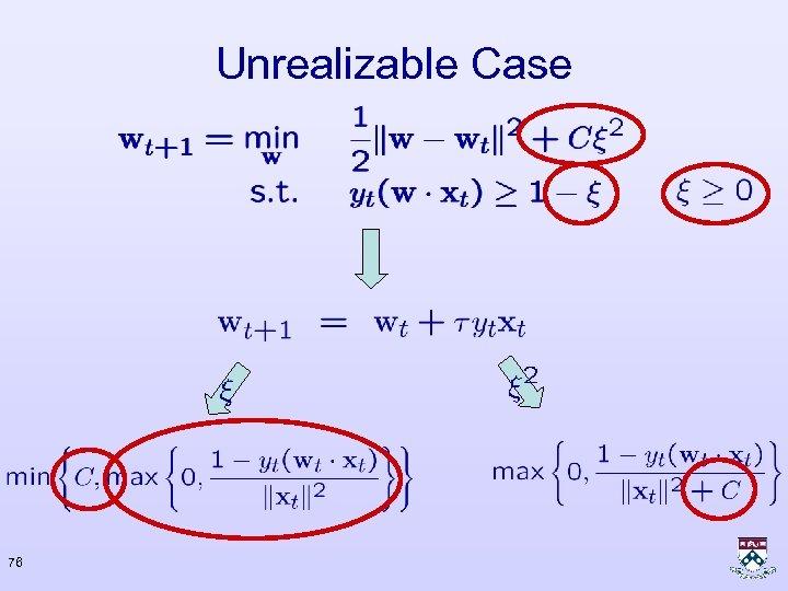 Unrealizable Case 76