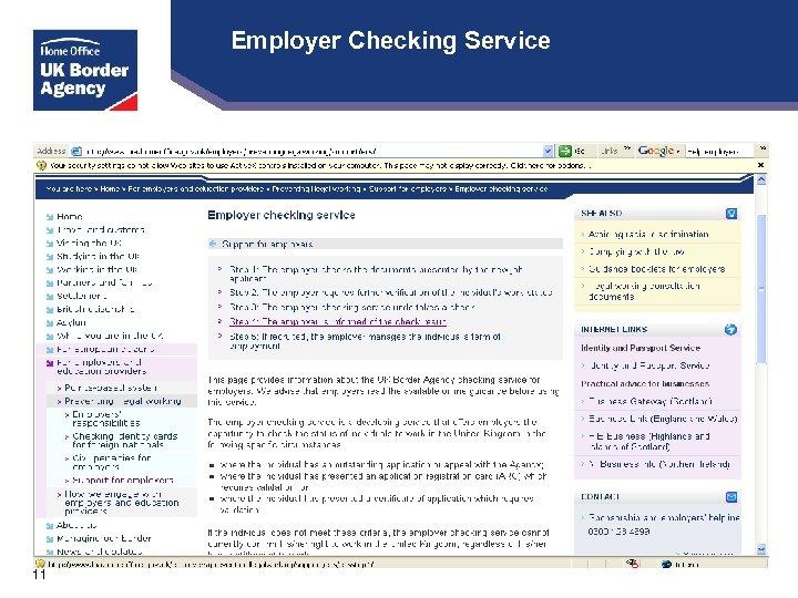 Employer Checking Service 11