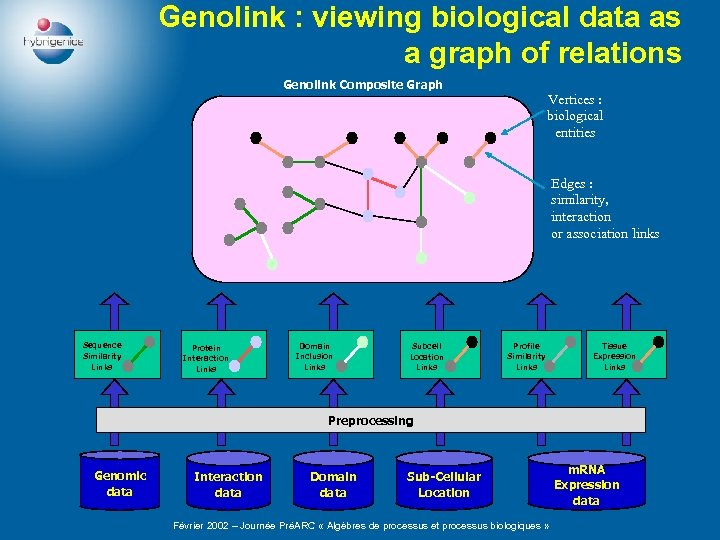 Genolink : viewing biological data as a graph of relations Genolink Composite Graph Vertices