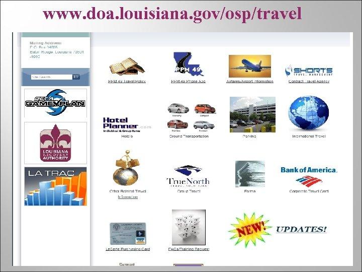 www. doa. louisiana. gov/osp/travel