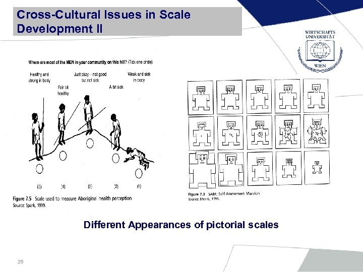 Cross-Cultural Issues in Scale Development II Different Appearances of pictorial scales 26