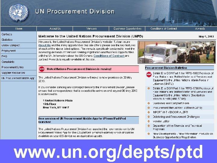 www. un. org/depts/ptd