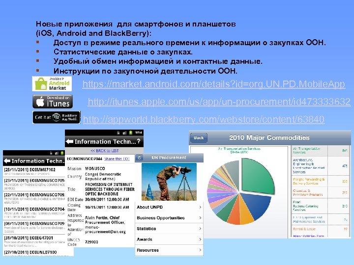 Новые приложения для смартфонов и планшетов (i. OS, Android and Black. Berry): § Доступ