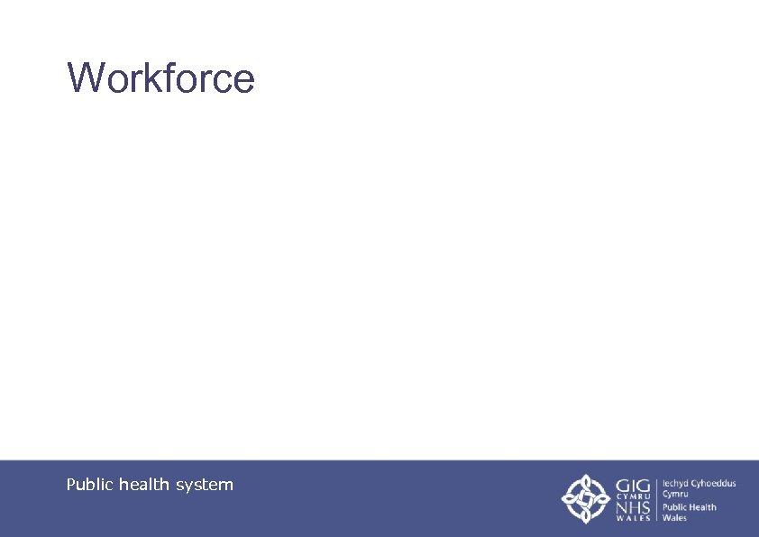 Workforce Public health system