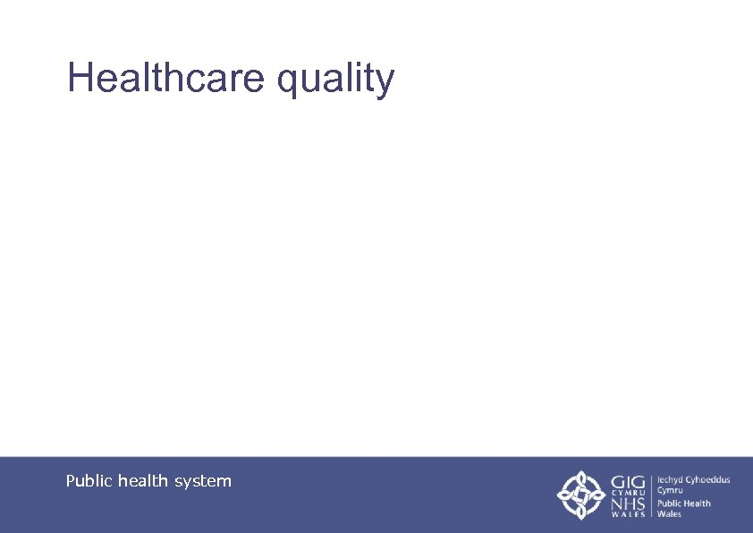 Healthcare quality Public health system