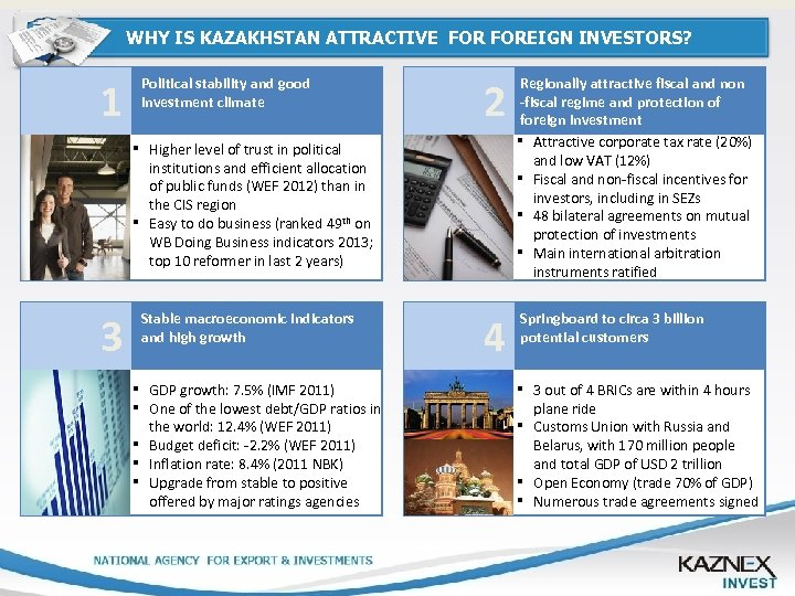 WHY IS KAZAKHSTAN ATTRACTIVE FOREIGN INVESTORS? INDUSTRY OF KAZAKHSTAN Political stability and good investment