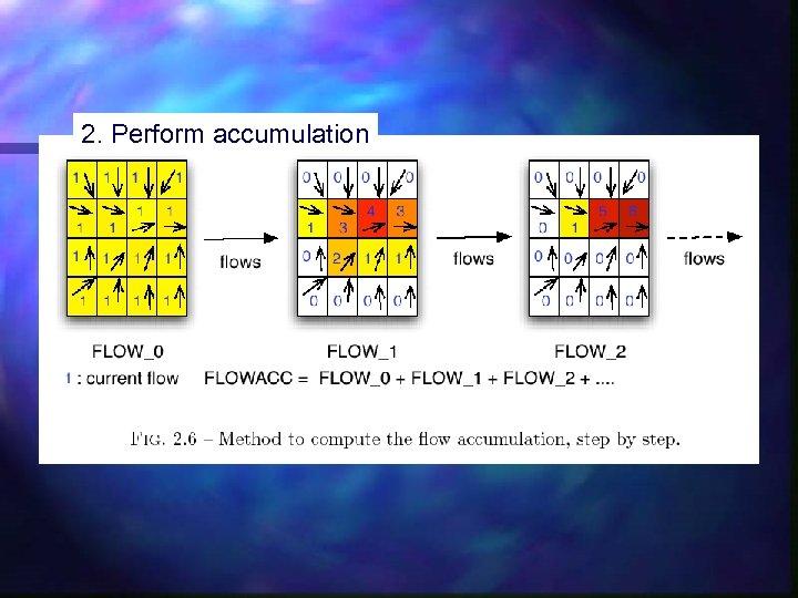 2. Perform accumulation