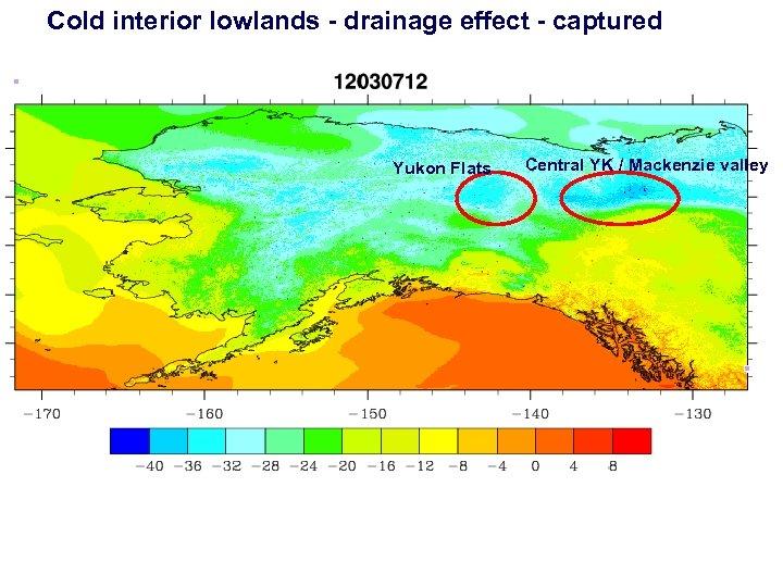 Cold interior lowlands - drainage effect - captured Yukon Flats Central YK / Mackenzie