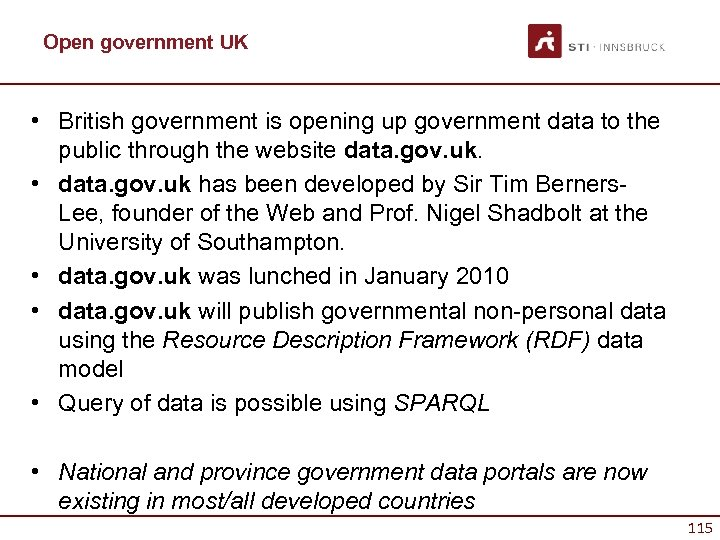 Open government UK • British government is opening up government data to the public
