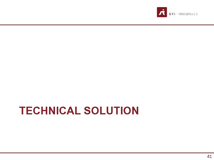 TECHNICAL SOLUTION 41