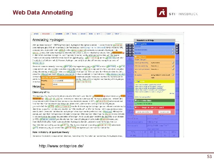 Web Data Annotating http: //www. ontoprise. de/ 53