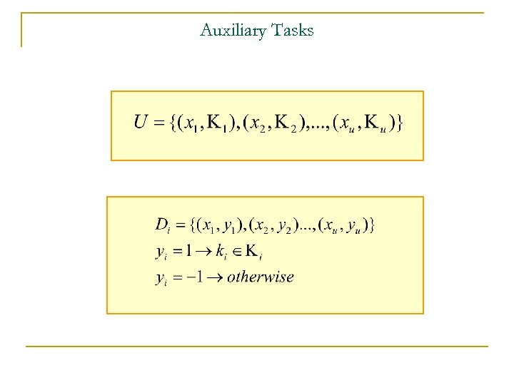 Auxiliary Tasks