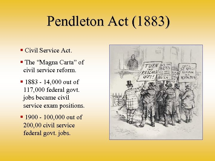 "Pendleton Act (1883) § Civil Service Act. § The ""Magna Carta"" of civil service"