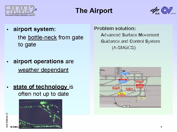 The Airport • airport system: the bottle-neck from gate to gate • Advanced Surface