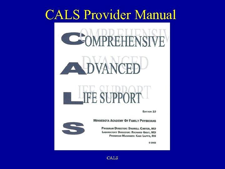 CALS Provider Manual CALS