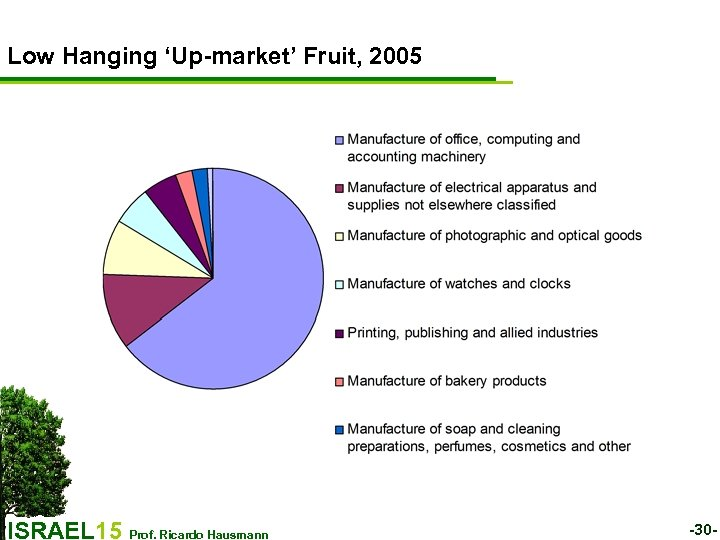 Low Hanging 'Up-market' Fruit, 2005 ISRAEL 15 Prof. Ricardo Hausmann -30 -