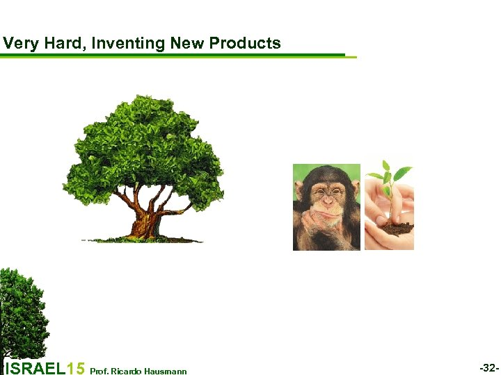 Very Hard, Inventing New Products ISRAEL 15 Prof. Ricardo Hausmann -32 -