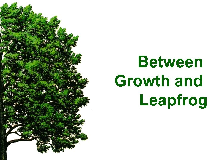 Between Growth and Leapfrog