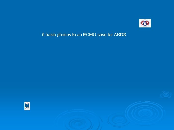 5 basic phases to an ECMO case for ARDS