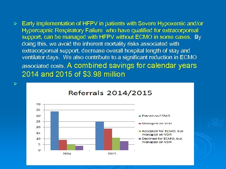 Ø Early implementation of HFPV in patients with Severe Hypoxemic and/or Hypercapnic Respiratory Failure