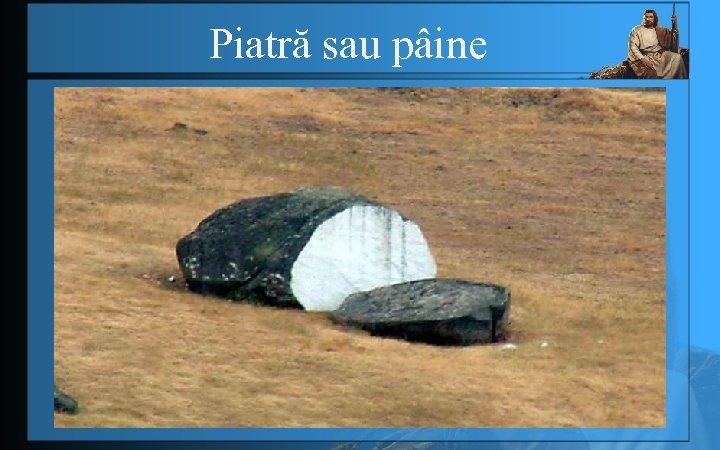 Piatră sau pâine