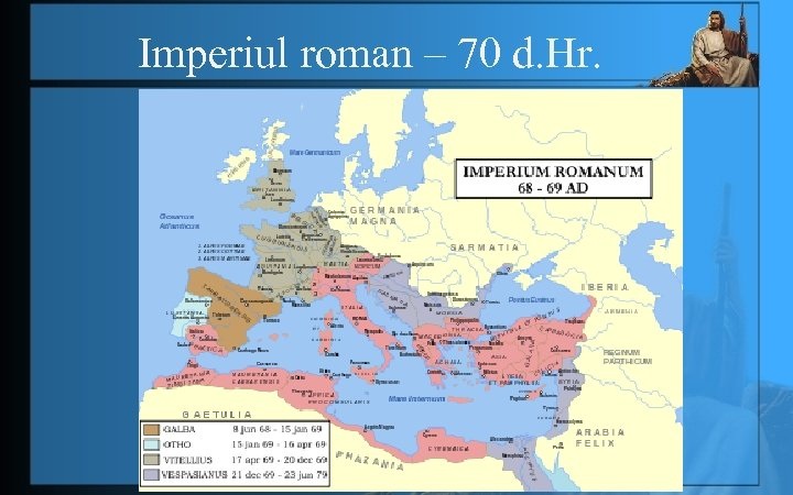 Imperiul roman – 70 d. Hr.
