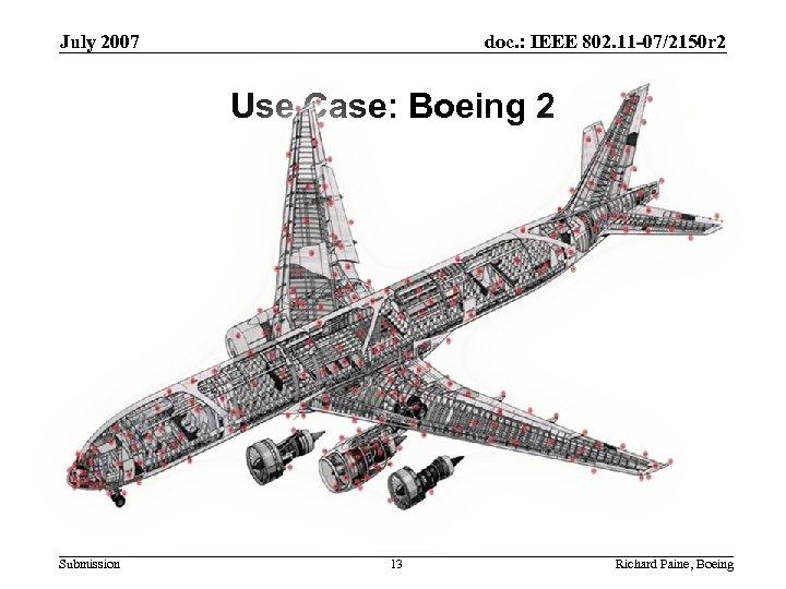 July 2007 doc. : IEEE 802. 11 -07/2150 r 2 Use Case: Boeing 2
