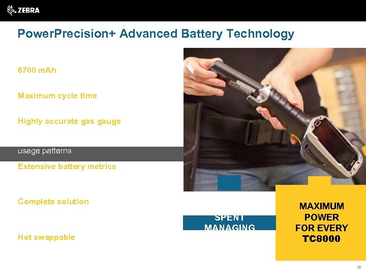 Power. Precision+ Advanced Battery Technology 6700 m. Ah — most powerful battery in its