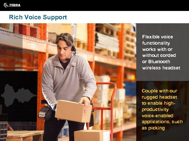 Rich Voice Support Flexible voice functionality works with or without corded or Bluetooth wireless