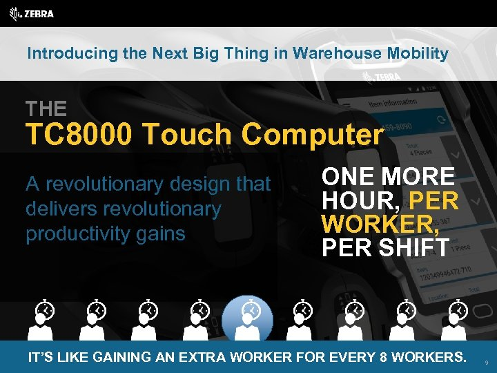 Introducing the Next Big Thing in Warehouse Mobility THE TC 8000 Touch Computer A