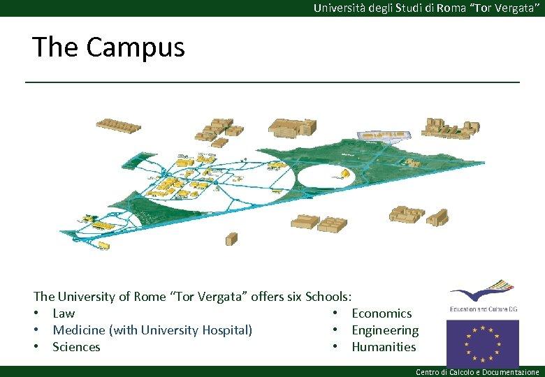 """Università degli Studi di Roma """"Tor Vergata"""" The Campus The University of Rome """"Tor"""