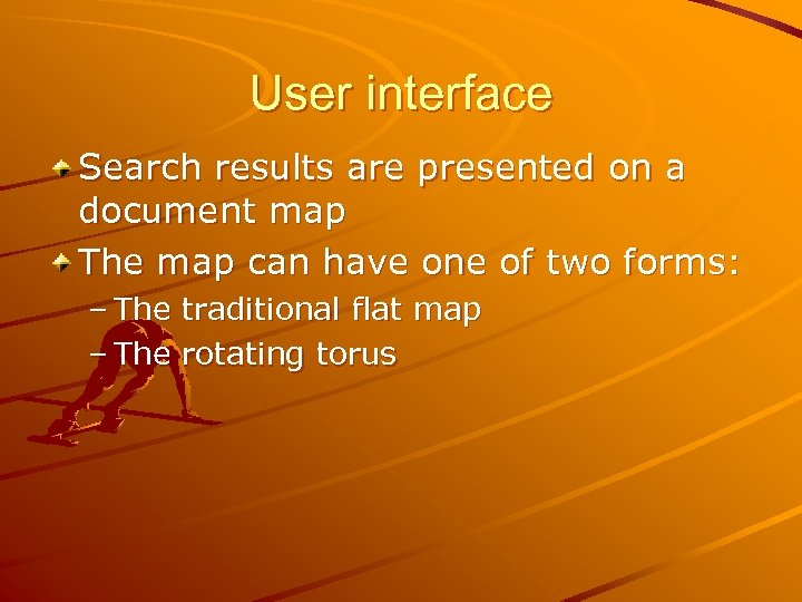 User interface Search results are presented on a document map The map can have