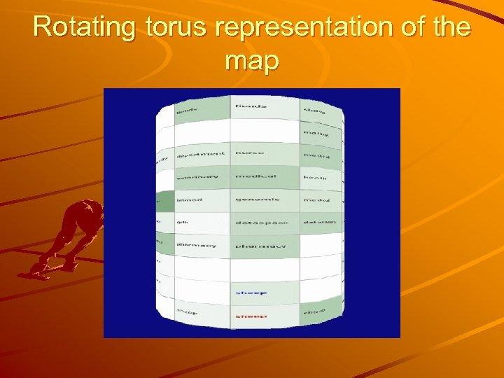 Rotating torus representation of the map