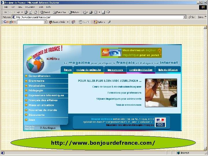 http: //www. bonjourdefrance. com/