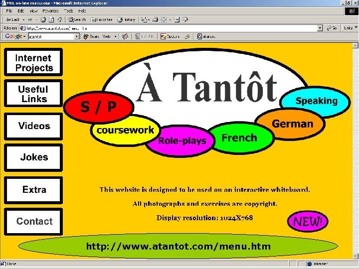 http: //www. atantot. com/menu. htm
