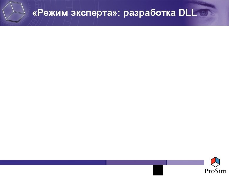 «Режим эксперта» : разработка DLL