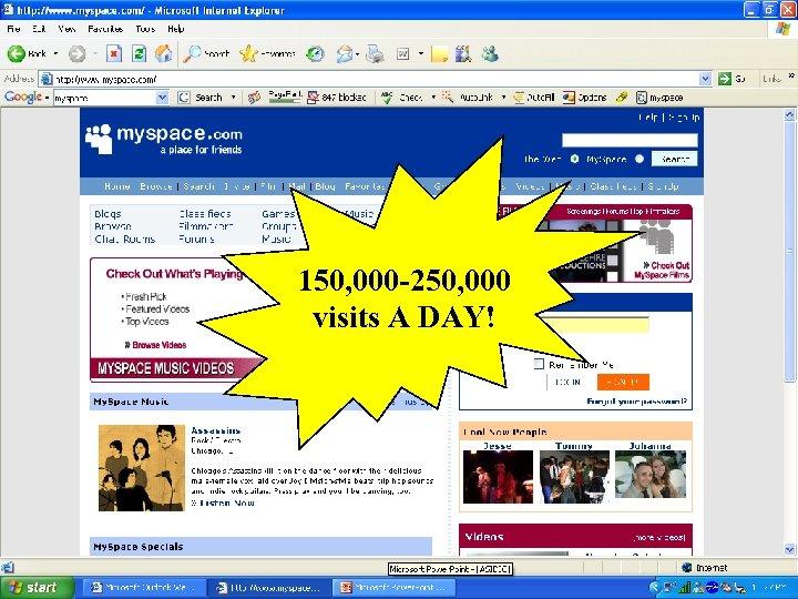150, 000 -250, 000 visits A DAY! CASLIN 2006, Český Ráj, 11– 15. 6.